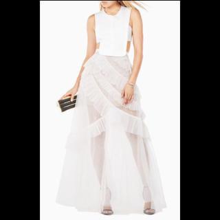 ビーシービージーマックスアズリア(BCBGMAXAZRIA)のBCBG ロングドレス ピンク(ロングドレス)