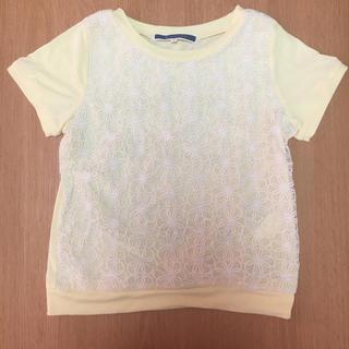 ジエンポリアム(THE EMPORIUM)の即購入可能!THE EMPORIUM 黄色 刺繍 花 Tシャツ(Tシャツ(半袖/袖なし))