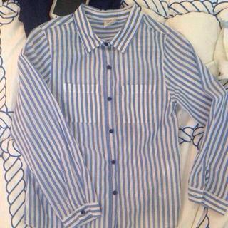 ザラキッズ(ZARA KIDS)のザラ 新品ストライプシャツ(シャツ/ブラウス(長袖/七分))