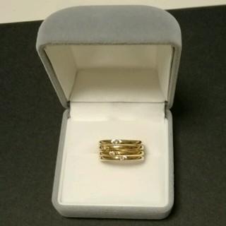 期間限定特価!!18kの小さな4つのダイヤ入り金の指輪 25日まで!(リング(指輪))