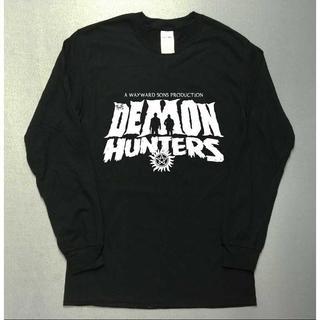 悪魔狩り☆デーモンハンターズ☆ロゴ☆長袖ロングTシャツ utn335(Tシャツ/カットソー(七分/長袖))