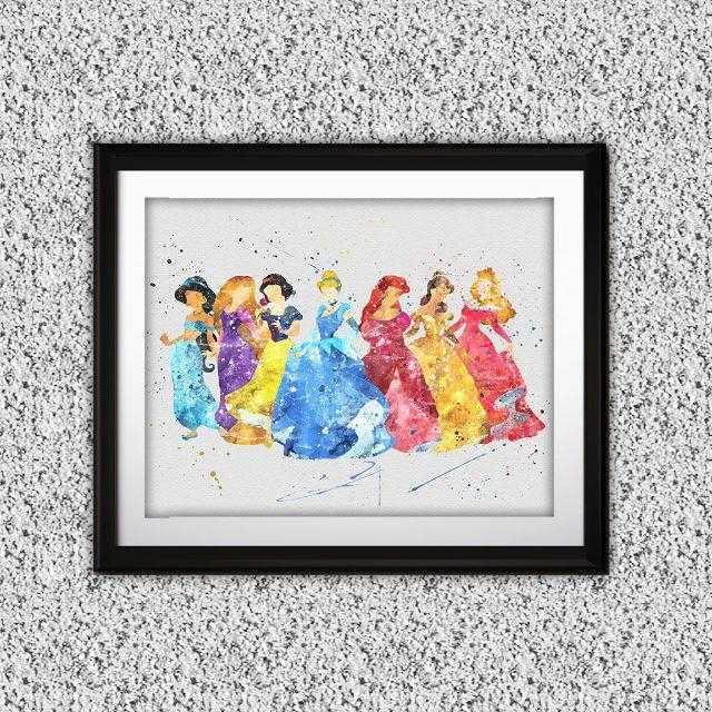 Disney(ディズニー)のディズニープリンセス(7人)│ディズニー/Disney│アートポスター エンタメ/ホビーのアニメグッズ(ポスター)の商品写真