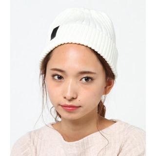 アドポーション(ADPOSION)のニット帽 ❤︎ ネイビー 美品 男女兼用 キッズにも◎(ニット帽/ビーニー)