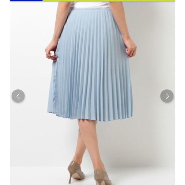 earth music & ecology(アースミュージックアンドエコロジー)のアコーディオンプリーツスカート ライトブルー レディースのスカート(ひざ丈スカート)の商品写真