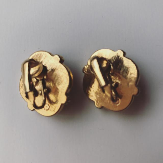 Lochie(ロキエ)のvintage ピンク ゴールド イヤリング レディースのアクセサリー(イヤリング)の商品写真
