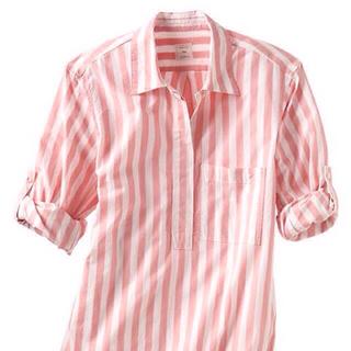 ギャップ(GAP)のGAP ストライプピンクシャツ(シャツ/ブラウス(半袖/袖なし))