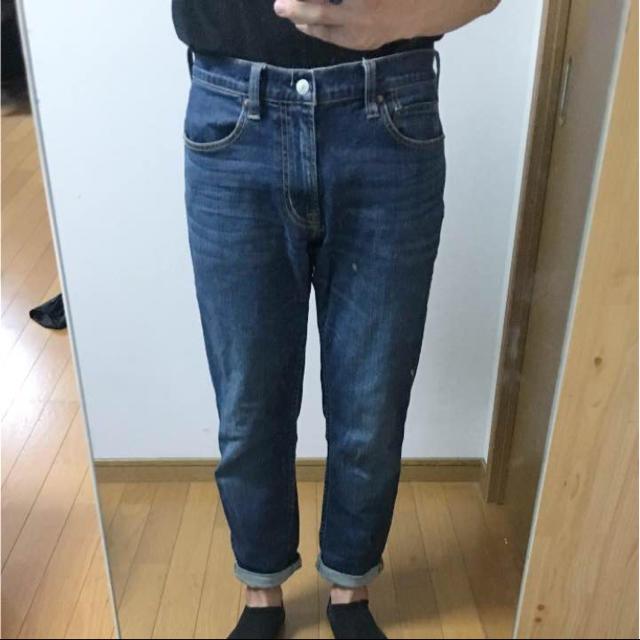 MUJI (無印良品)(ムジルシリョウヒン)の無印良品 オーガニックコットンストレッチデニムテーパード メンズのパンツ(デニム/ジーンズ)の商品写真