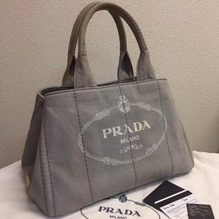 d941b6fca802 プラダ(PRADA)のPRADA CANAPA☆キャンバストートバッグ☆プラダ カナパ☆グレー