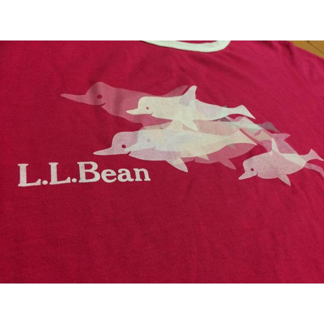 L.L.Bean(エルエルビーン)のLLbeanドルフィンピンクコットンT レディースのトップス(Tシャツ(半袖/袖なし))の商品写真