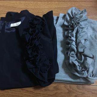 シマムラ(しまむら)のしまむら ノースリーブ フリルカットソー 2枚セット(カットソー(半袖/袖なし))