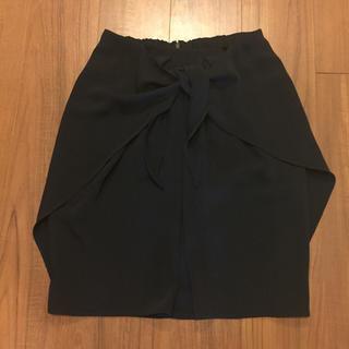 デミルクスビームス(Demi-Luxe BEAMS)のデミルクスビームス スカート ネイビー(ひざ丈スカート)