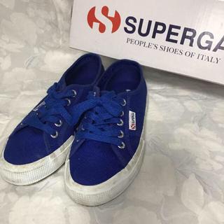スペルガ(SUPERGA)の35 スペルガ ローカットスニーカー ブルー 正規品(スニーカー)