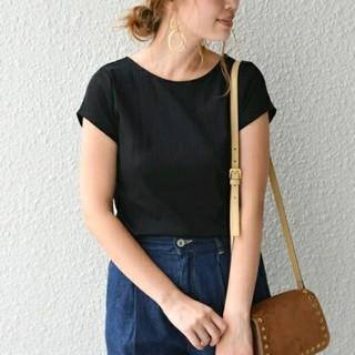 シップスフォーウィメン(SHIPS for women)のSHIPS♪ コットンリブTシャツ 新品タグ付き(Tシャツ(半袖/袖なし))