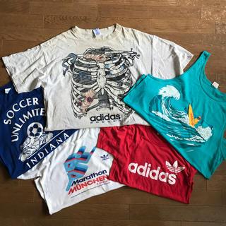 アディダス(adidas)のadidasビンテージTEEセット 三つ葉 アディダス vintage(Tシャツ/カットソー(半袖/袖なし))