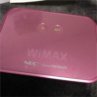 エヌイーシー(NEC)のWiMAX Wifiルータ: WM3600R ピンク(PC周辺機器)