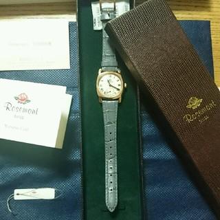 アパルトモンドゥーズィエムクラス(L'Appartement DEUXIEME CLASSE)のRosemontロゼモン HIROB  2回使用 美品 グレー革ベルト(腕時計)