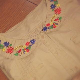 アンティローザ(Auntie Rosa)のAuntierosa*刺繍 ジャケット(ミリタリージャケット)