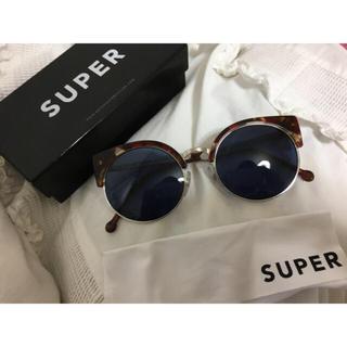 スーパーサングラス(Super Sunglasses)のSUPER べっ甲 丸型レンズ サングラス(サングラス/メガネ)