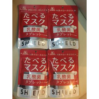 モリナガセイカ(森永製菓)の新品 たべるマスク シールド乳酸菌 ヨーグルト風味タブレット 33g×4袋 森永(その他)