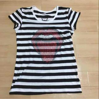 ハーフマン(HALFMAN)のHALFMAN ハーフマン☆ボーダー ストーンズ Tシャツ S(Tシャツ(半袖/袖なし))