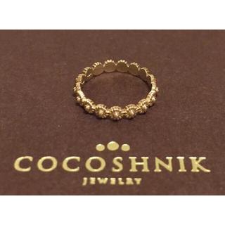 ココシュニック(COCOSHNIK)のcocoshnik フラワーモチーフリング(リング(指輪))