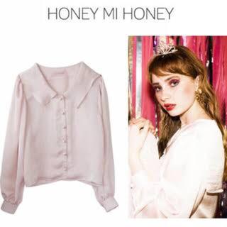 ハニーミーハニー(Honey mi Honey)のハニーミーハニー sailor blouse ピンク(シャツ/ブラウス(長袖/七分))