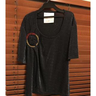 アンソフィーバックバック(ANN-SOFIE BACK/BACK)のアンソフィーバックBACKラメTシャツsister(Tシャツ(半袖/袖なし))
