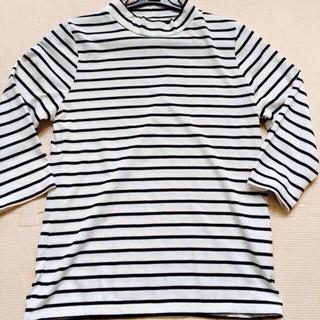 ジーユー(GU)のボーダーハイネック新品(Tシャツ(長袖/七分))