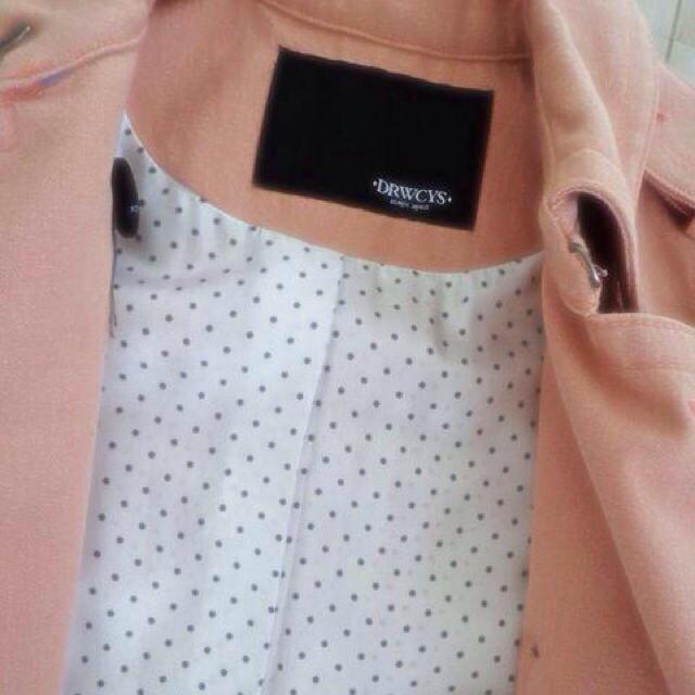 DRWCYS(ドロシーズ)のDRWCYSスプリングトレンチピンクS レディースのジャケット/アウター(トレンチコート)の商品写真