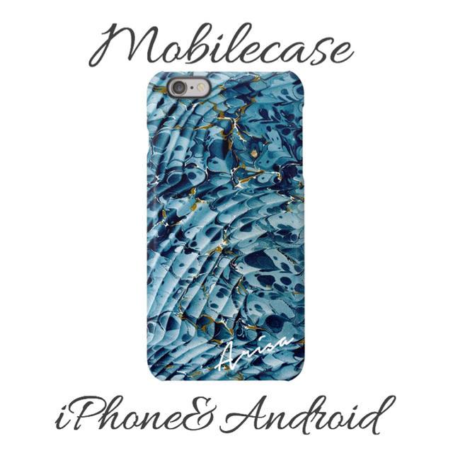 プーさん iPhone8 ケース 財布型 / 名入れ可能♡アクアマーブル柄スマホケース♡iPhone以外も対応機種多数あり♡の通販 by welina mahalo|ラクマ