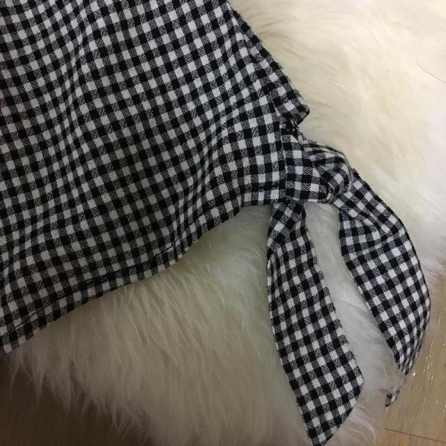 Cher(シェル)のお値下げ cher購入インポートギンガムロンパース  レディースのパンツ(オールインワン)の商品写真