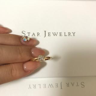 スタージュエリー(STAR JEWELRY)の【定価14万】STAR JEWELRY♡MOON SETTING DIAMOND(リング(指輪))