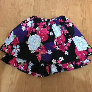 シマムラ(しまむら)の浴衣パンツ付きスカート130(甚平/浴衣)