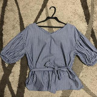 ジーユー(GU)のヒカル様専用 ストライプシャツ GU(シャツ/ブラウス(半袖/袖なし))