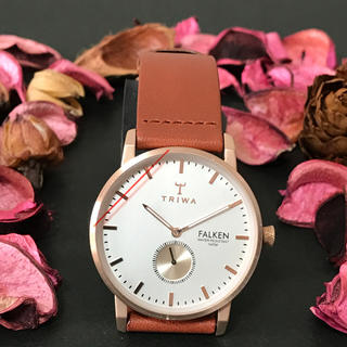 ダニエルウェリントン(Daniel Wellington)のトリワ腕時計✨イチオシ商品✨ ファルケンシリーズ  茶×白 メンズ(腕時計(アナログ))