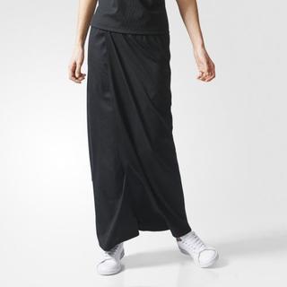 アディダス(adidas)の今季完売!新品【アディダス】ラインストレッチスリットロングスカート黒M(ロングスカート)