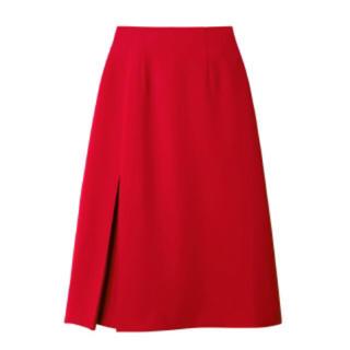 ルシェルブルー(LE CIEL BLEU)のルシェルブルー 今季 サイドタック Aラインスカート レッド 34 赤(ひざ丈スカート)