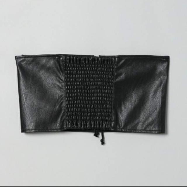 JEANASIS(ジーナシス)の【新品】ジーナシス レースアップコルセットベルト ブラック JEANASIS レディースのファッション小物(ベルト)の商品写真