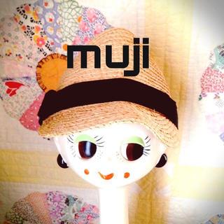 ムジルシリョウヒン(MUJI (無印良品))の無印良品リボン麦わらキャップ(キャップ)