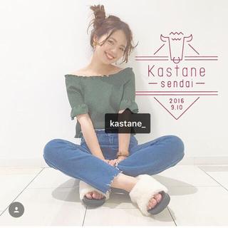 カスタネ(Kastane)の美品♥カスタネ♥シャーリング♥ブラウス(シャツ/ブラウス(半袖/袖なし))
