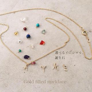 14kgf  ゴールドフィルド 誕生石ネックレス(ネックレス)