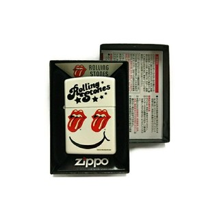 ジッポー(ZIPPO)のZippo【ローリング・ストーンズ】ホワイト(タバコグッズ)