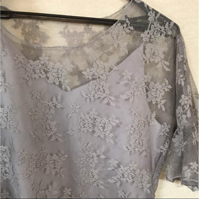 シースルーレーストップス レディースのトップス(シャツ/ブラウス(長袖/七分))の商品写真