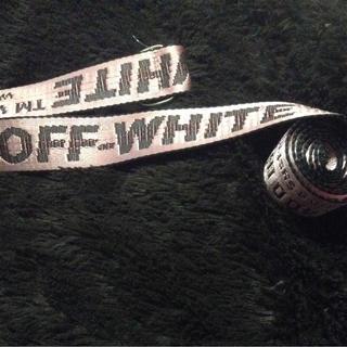 オフホワイト(OFF-WHITE)のOFF-WHITE ロングベルト ピンク(ベルト)