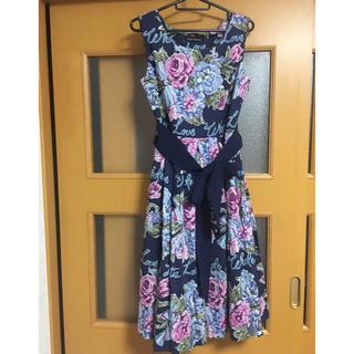 ジェーンマープル(JaneMarple)のBeautiful bouquetのアフタヌーンドレス・タックスカート(ロングワンピース/マキシワンピース)