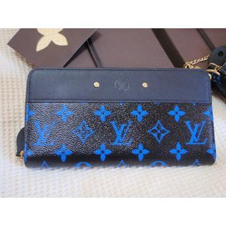 ルイヴィトン(LOUIS VUITTON)の新品激レア本物ルイヴィトン青黒モノグラムブルーブラック長財布ジッピー(財布)