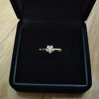 クリスマス 天然ダイヤモンドリング(リング(指輪))