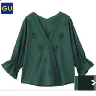 ジーユー(GU)のジーユー スカラップレースブラウス(シャツ/ブラウス(半袖/袖なし))