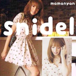 スナイデル(snidel)の新品雑誌掲載♡夏モテドットワンピ❇︎ふんわりシフォン♪デートワンピ❇︎(ミニワンピース)