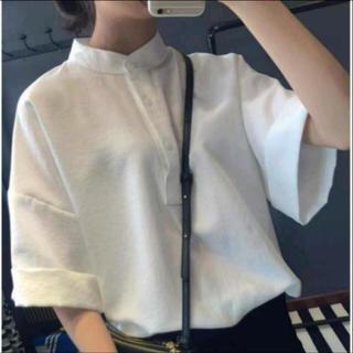 カスタネ(Kastane)のチャイナシャツ♡ノーカラーシャツ(シャツ/ブラウス(半袖/袖なし))